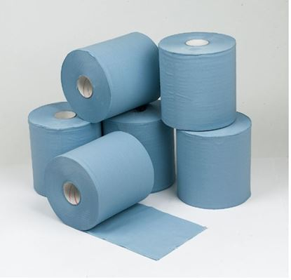 Picture of Concept 2 Ply Blue Centre Feed Rolls 150m x18.5cm Pack 6