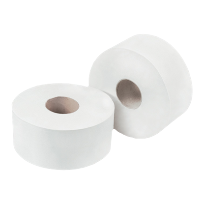 Picture of Concept 2 Ply Mini Jumbo Toilet Rolls Pack 12 150m x 9cm White