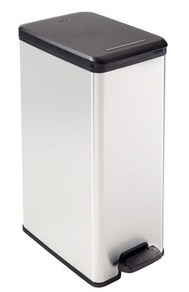 Picture of Curver Slim Line Stainless Steel Effect Deco Pedal Bin 40L