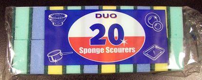 Picture of Duo Sponge Scourers Pack 20