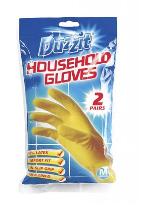Picture of Duzzit Household Gloves Pack 2 Medium