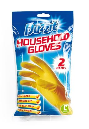 Picture of Duzzit Latex Gloves Pack 2 Large