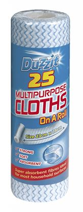 Picture of Duzzit Multi Purpose Cloths Pack 25 On A Roll