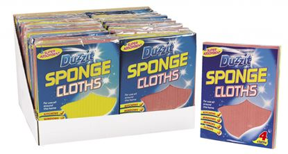 Picture of Duzzit Sponge Cloths 4 Pack