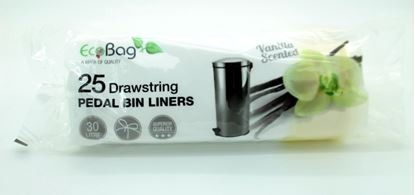 Picture of Ecobag Scented Drawstring Pedal Bin Liners 30L