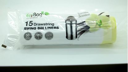 Picture of Ecobag Scented Drawstring Swing Bin Liners 50L