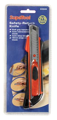 Picture of SupaTool Safety-Return Knife 18mm