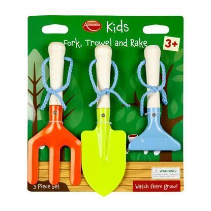 Picture of Ambassador Kids Wooden Handle Tools 3 Piece