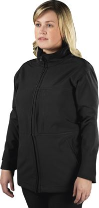 Picture of Glenwear Hatton Black Ladies Softshell Jacket Size 18