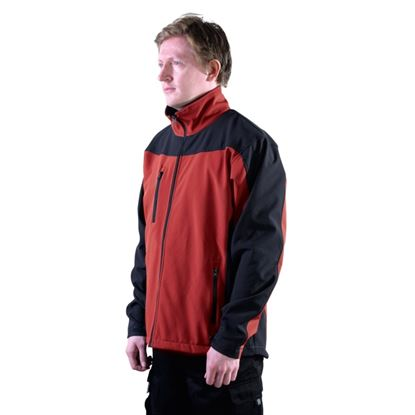 Picture of Glenwear Hatton Softshell Jacket Red Small