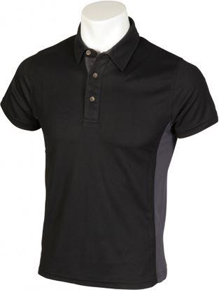 Picture of Glenwear Cuillin Polo Shirt BlackGrey Trim XXL