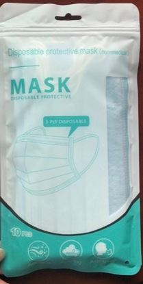 Picture of Disposable Face Mask 3 ply 10 Pack