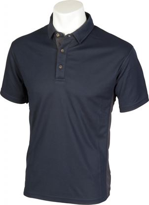 Picture of Glenwear Cuillin Polo Shirt NavyGrey Trim XL