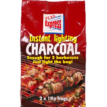 Picture of Fuel Express Instant-Light Lumpwood Charcoal 2 x 1kg bags