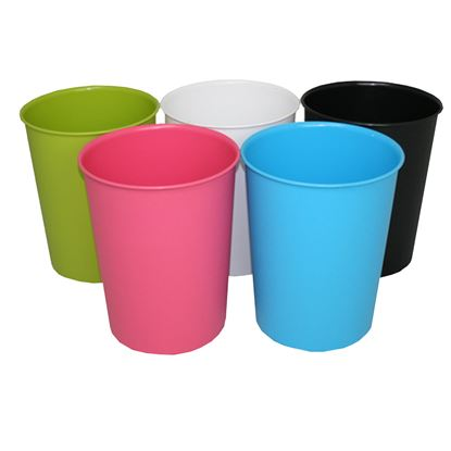 Picture of JVL Vibrance Waste Paper Bin Assorted