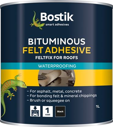Picture of Bostik Bituminous Felt Adhesive for Roofs 1L