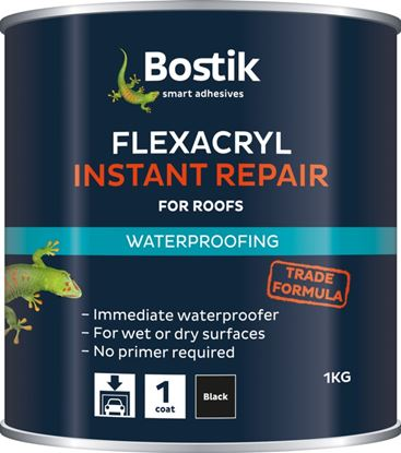 Picture of Bostik Flexacryl Instant Waterproof Compound 1kg Black