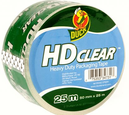 Picture of Duck Tape Heavy Duty Clear Packaging Tape 50mm x 25m