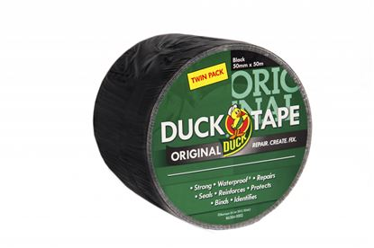 Picture of Duck Tape Original Twin Pack 50mm x 50m Black