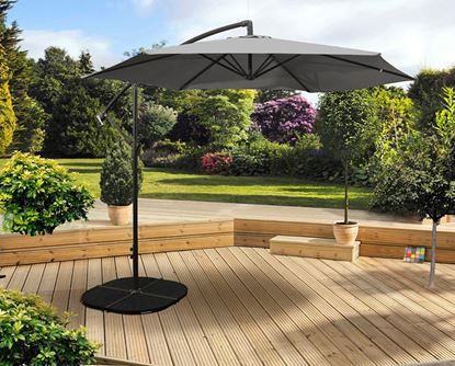 Picture of Pagoda 3m Over Hanging Parasol Grey