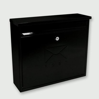 Picture of Sterling Elegance Front Opening Post Box Black
