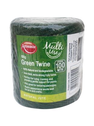 Picture of Ambassador Green Jute Twine 100g100m