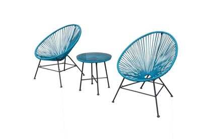 Picture of Culcita Woven Moon Chairs  Table Set