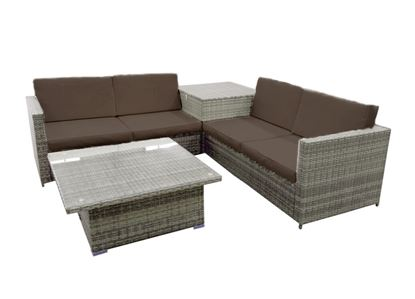 Picture of Pagoda Portofino Rattan Storage Corner Set