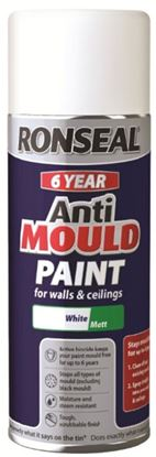 Picture of Ronseal 6 Year Quick Dry Anti Mould White 400ml Aerosol
