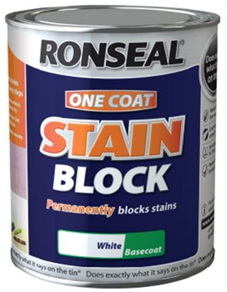 Picture of Ronseal One Coat Stain Block 750ml White