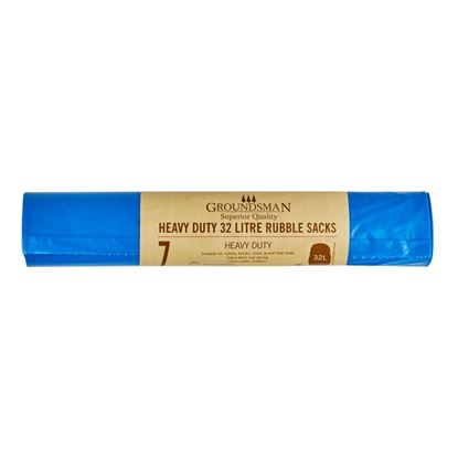Picture of Groundsman Heavy Duty Rubble Sacks 32L - Roll of 7