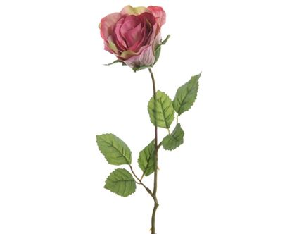 Picture of Kaemingk Closed Silk Rose On Stem 7 x 45cm Soft Pink