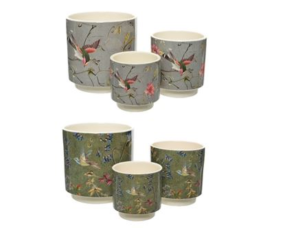 Picture of Kaemingk Dol Planter With Birds