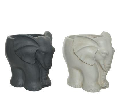 Picture of Kaemingk Fibreclay Elephant Planter 27 x 22 x 26cm Assorted