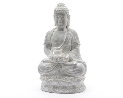 Picture of Kaemingk Buddha Tealight Holder With Glass Grey