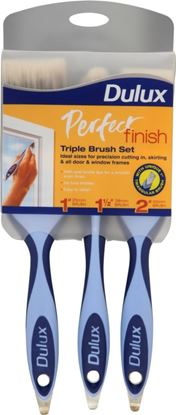Picture of Dulux Perfect Finish Brush Set Triple Pack