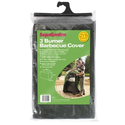 Picture of SupaGarden 3 Burner Barbecue Cover 130cm x 74cm x 61cm