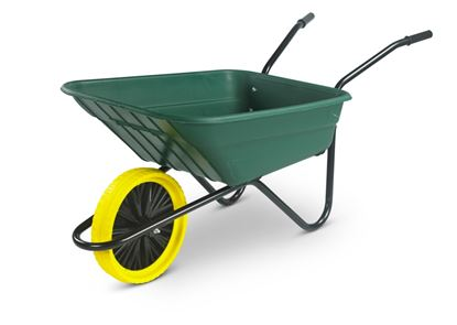 Picture of Walsall Wheelbarrow The Shire Green Poly Barrow 90L