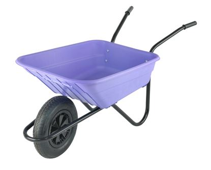 Picture of Walsall Wheelbarrow The Shire Lilac Poly Barrow 90L