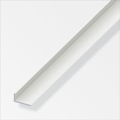 Picture of Alfer Angle Unequal-Sided White PVC 30mmx20mm