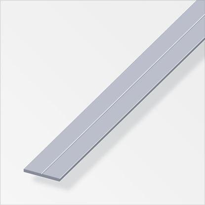 Picture of Alfer Flat Bar Raw Aluminium 23.5mm x 2mm x 1m