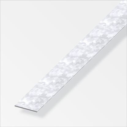 Picture of Alfer Flat Bars Galvanised Steel 35.5mm x 1m