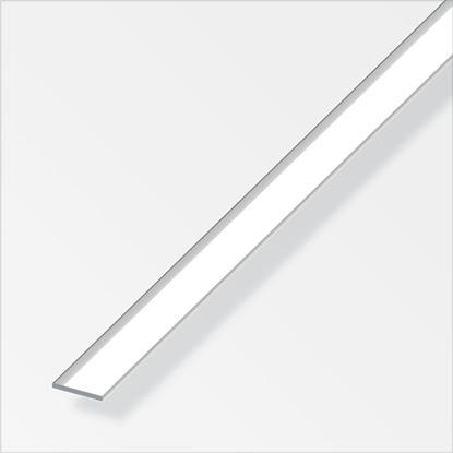 Picture of Alfer Aluminium Chrome Flat Bar 20mmx2mmx1m