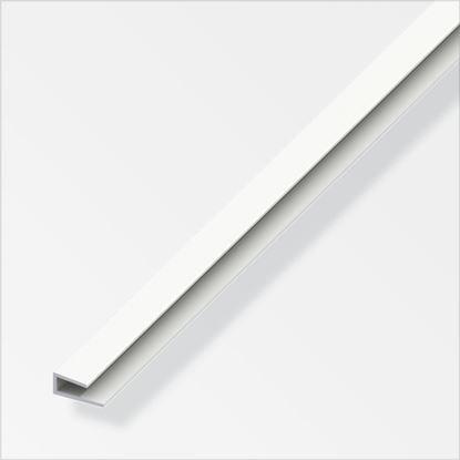 Picture of Alfer Edge Profile White PVC 1m