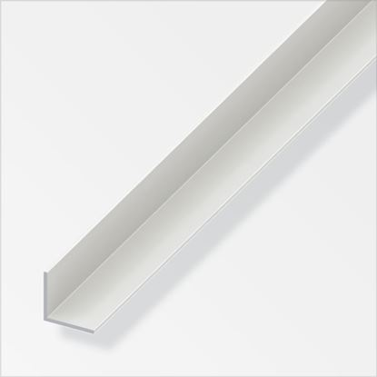 Picture of Alfer Equal Angle White PVC 20mmx20mmx1m