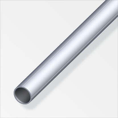 Picture of Alfer Round Tube Raw Aluminium 15.5mm x 1m