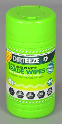 Picture of Dirteeze Glass and Plastic Jumbo Wipes Pack 80