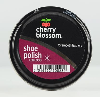 Picture of Cherry Blossom Shoe Polish 50ml Tin Oxblood