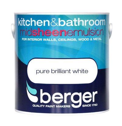 Picture of Berger Kitchen  Bathroom Midsheen 2.5L Pure Brilliant White