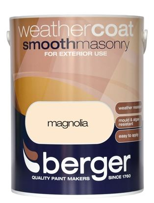 Picture of Berger Weathercoat Smooth Masonry 5L Magnolia